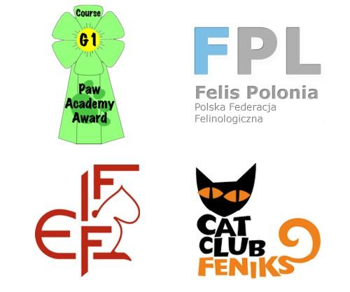 Loga organizacji związków hodowców kotów